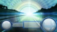 futuristic GPS concept HD video