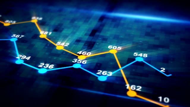 futuristic graph chart seamless loop animation video