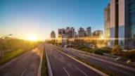 Futuristic green city timelapse video