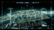 Futuristic heads-up display video