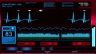 Futuristic Heart Monitor Screen video