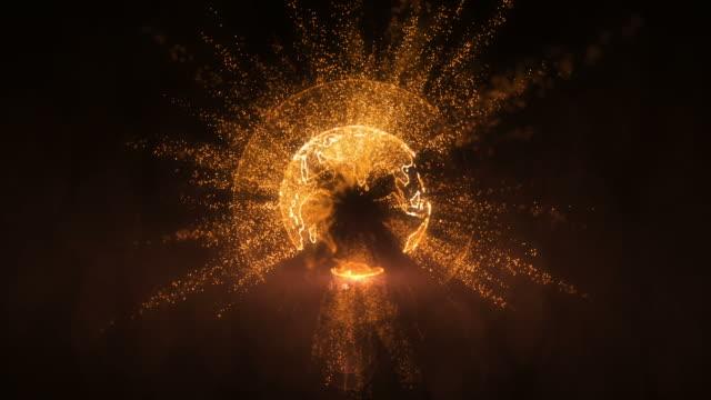 Futuristic hi-tech planet loop video