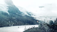 Futuristic Industrial Operation On Snowy Planet video