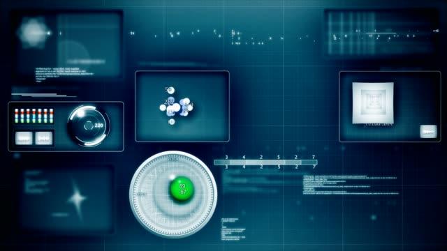 Futuristic interface loop video