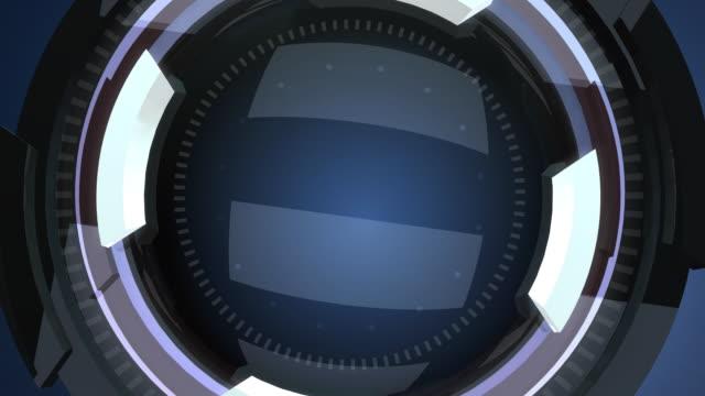 Futuristic lens intro video