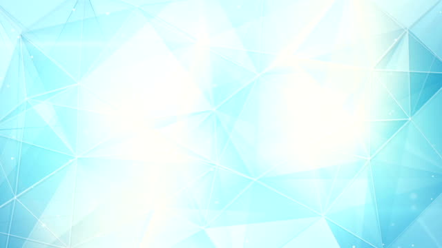 futuristic light blue triangles pattern seamless loop video