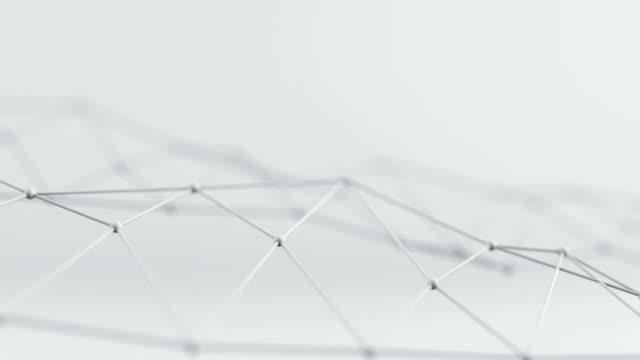 Futuristic network shape. Seameless loop 3D render animation video