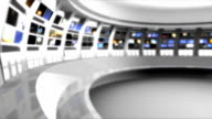 futuristic newsroom virtual set background video