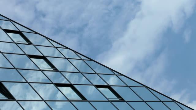 Futuristic office building - close up video