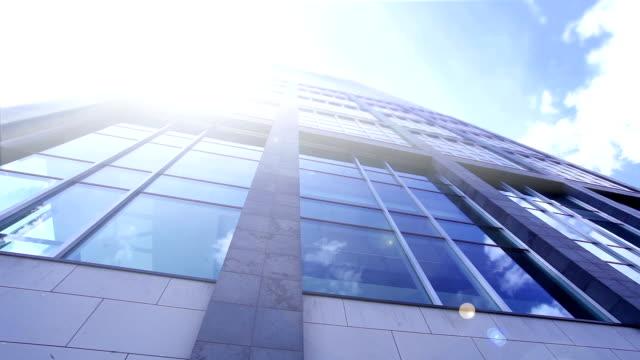 Futuristic office building - time lapse video