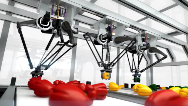 Futuristic Packing Line - Seamless Loop video