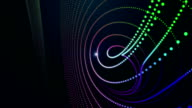 Futuristic particle stripe object and light in motion, loop HD video