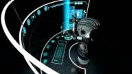 Futuristic Robot Accessing Touchscreen Technology video