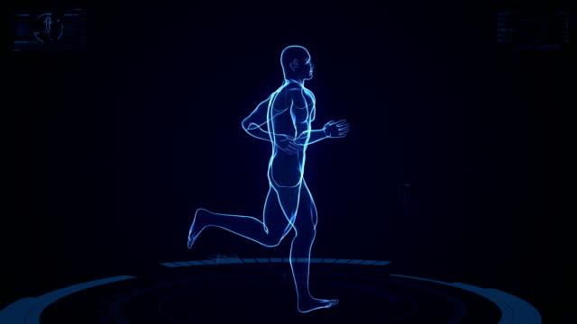 Futuristic Running Man Background video