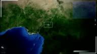 Futuristic Satellite Image View Of Abuja video