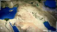 Futuristic Satellite Image View Of Amman video