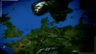 Futuristic Satellite Image View Of Amsterdam video