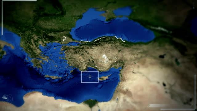 Futuristic Satellite Image View Of Ankara video
