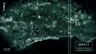 Futuristic Satellite Image View Of City video