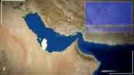 Futuristic Satellite Image View Of Doha video