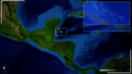 Futuristic Satellite Image View Of Guatemala city video