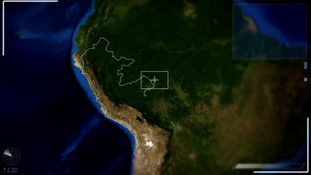 Futuristic Satellite Image View Of Lima video