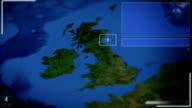 Futuristic Satellite Image View Of London video