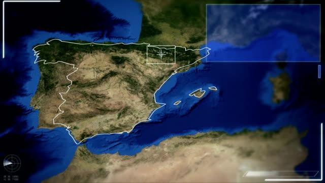 Futuristic Satellite Image View Of Madrid video