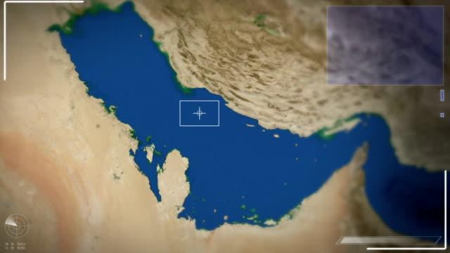 Futuristic Satellite Image View Of Manama video