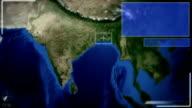 Futuristic Satellite Image View Of New delhi video