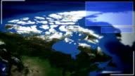 Futuristic Satellite Image View Of Ottawa video