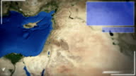 Futuristic Satellite Image View Of Tel aviv video
