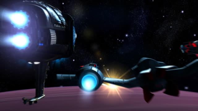 Futuristic spaceships video