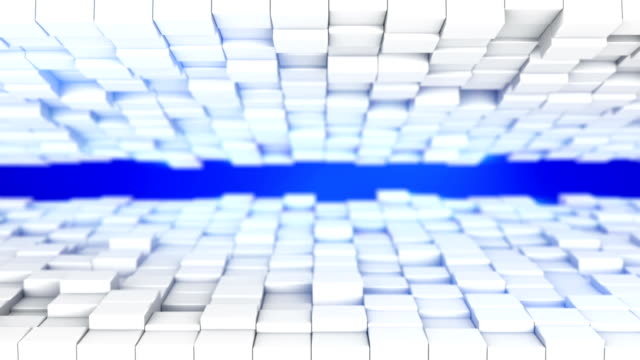 Futuristic technology abstract 3D render loopable background video