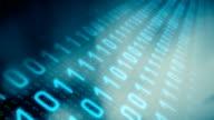 Futuristic technology binary data hacker attack conception video