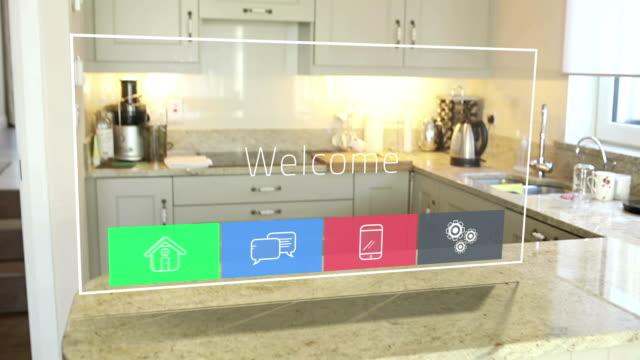 Futuristic technology interface video