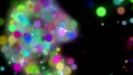 Futuristic technology light animation, loop HD 1080p video