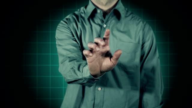 Futuristic Touch Screen Triangle video