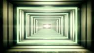 Futuristic tunnel video
