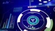 Futuristic user interface background video