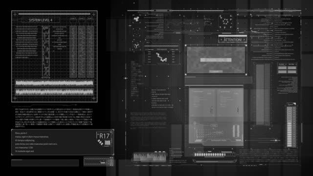 Futuristic user interface frame video
