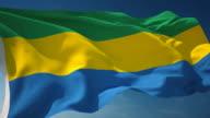 4K Gabon Flag - Loopable video