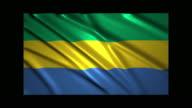 Gabon flag waving,loopable video