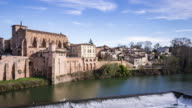 Gaillac, France - Timelapse  - Daytime in the old town video