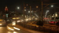 Galata Bridge and Tower Traffic Timelapse video