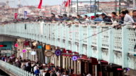 HD: Galata Bridge video