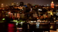 Galata Tower and Ferries in Istanbul video