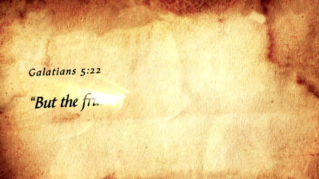 Galatians 5:22 full HD video