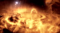 Galaxy Animated sci-fi or scientific background video. video