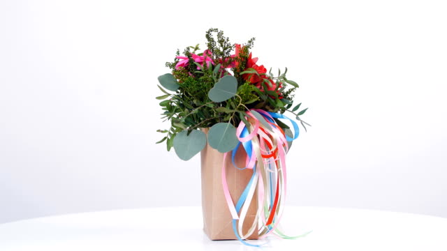 Gallantly present a bouquet and poems for your beloved video